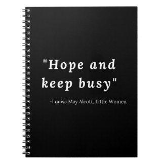 LouisaはAlcottの小さい女性の引用文よろしいです ノートブック