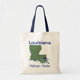 Louisianan地図のバッグ トートバッグ