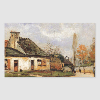 Louveciennesアルフレッド・シスレーの近隣の通り 長方形シール
