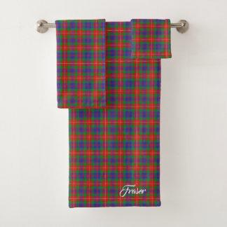 Lovatのタータンチェック格子縞のスコットランドのしゃれているな一族Fraser バスタオルセット