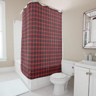 Lovatのモダンの格子縞の赤そして濃紺Fraser シャワーカーテン