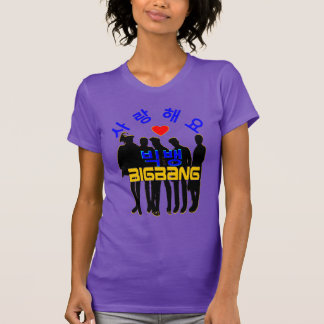 ♪♥LoveのBigBanの女性のアメリカの服装のK破裂音Tee♥♫ Tシャツ