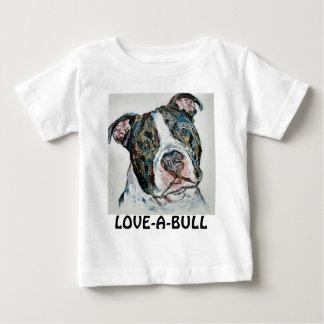 LOVE-A-BULLの乳児のワイシャツ ベビーTシャツ