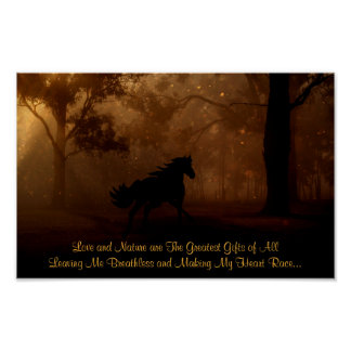 Love and Nature The Greatest Gifts ~ Horse ポスター