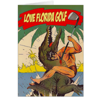 Love Florida Golf - Greeting Card カード