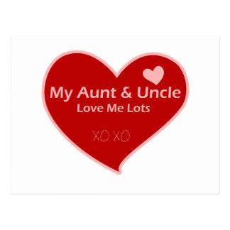 Love Me私の叔母さん及び叔父さん ポストカード