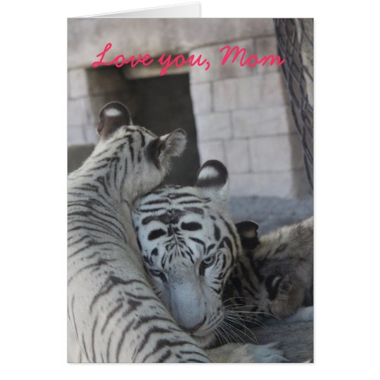 Love you, Mom (White Tiger Mother and Cub) カード