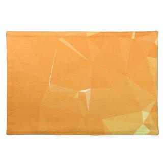 LoveGeoの抽象的な幾何学的設計-甘いパパイヤ ランチョンマット