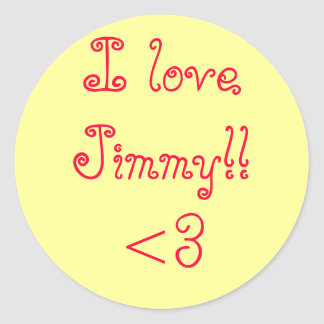 loveJimmy I!! <3 ラウンドシール