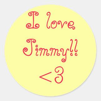 loveJimmy I!! <3 ラウンドシール