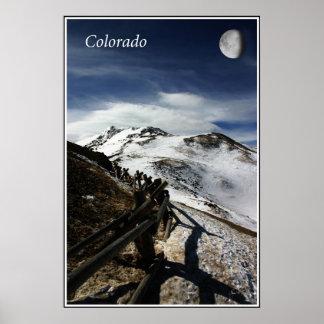 Lovelandのパス、コロラド州上のMoonrise ポスター