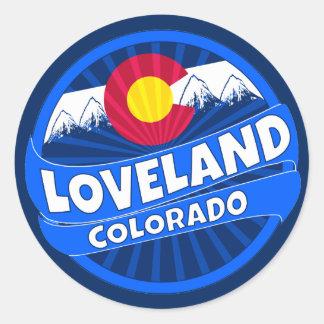 Lovelandコロラド州山の破烈のステッカー ラウンドシール