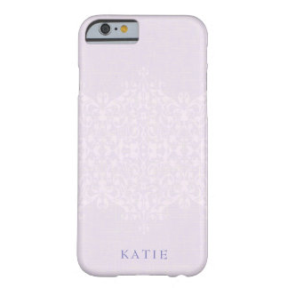 Lovely Lavender & Lace Monogram Barely There iPhone 6 ケース