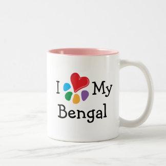 Lover_Iの動物のハート私のベンガル ツートーンマグカップ