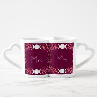 Lovers' Mugs二重女神のウィッカ信者レズビアン夫人及び夫人の ペアカップ