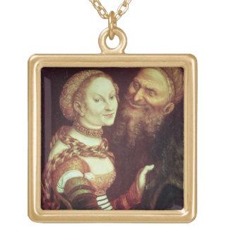Lovesick老人1553年(パネルの油) ゴールドプレートネックレス
