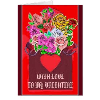 LOVETOのVALNTINEの花箱、私のバレンタイン カード
