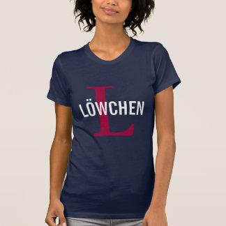 Löwchenの品種モノグラムのデザイン Tシャツ