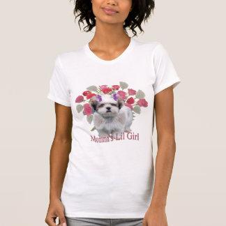 Lowchenの小さいライオン犬のMommaの女の子 Tシャツ