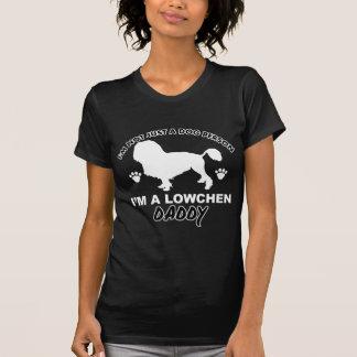 LOWCHEN犬のお父さんのデザイン Tシャツ