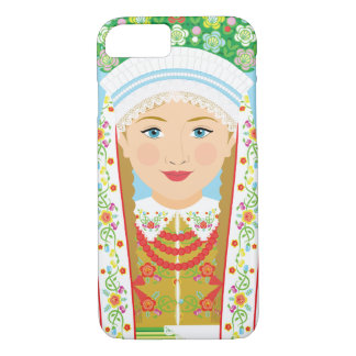 Łowiczのポーランドの花嫁のMatryoshkaの例 iPhone 8/7ケース