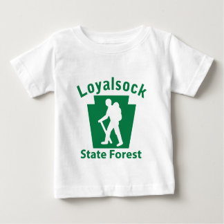Loyalsock SFのハイキング(男性) ベビーTシャツ