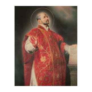 LoyolaのSt Ignatius ウッドウォールアート