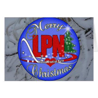 LPNのクリスマスのメリーな認可された実用的なナース カード
