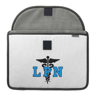 LPNのナースの医学の記号 MacBook PROスリーブ