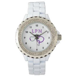 LPNのナースの聴診器 腕時計
