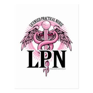 LPNのピンクのケリュケイオン ポストカード