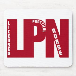 LPNの大きい赤の認可された実用的なナース マウスパッド