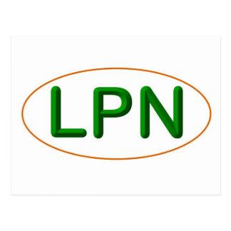 LPNの緑のオレンジ ポストカード