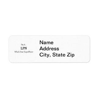 LPN 返信用宛名ラベル