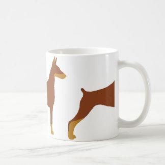 LSの(犬)ドーベルマン・ピンシェルの赤および錆のサイロ コーヒーマグカップ