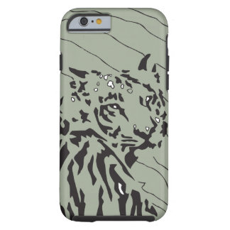 Ltの緑のbkgのトラの写実的な白黒 iPhone 6 タフケース