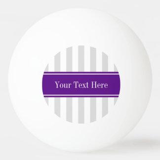 Lt灰色の白のストライプの紫色の一流のモノグラム 卓球ボール