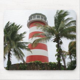 Lucayaの灯台壮大なバハマの私達の島 マウスパッド