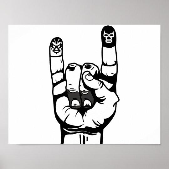 lucha de dedos ポスター