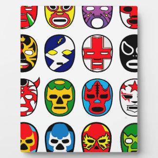 Lucha Libre Luchadorのメキシコレスリングのマスク フォトプラーク