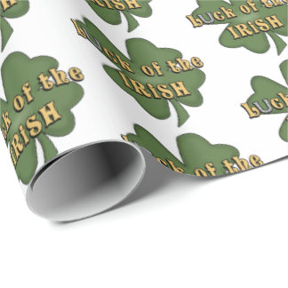 Luck Of The Irish clover party wrap ラッピングペーパー