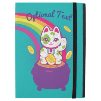 "Lucky Cat Maneki Neko Good Luck Pot of Gold iPad Pro 12.9"" ケース"