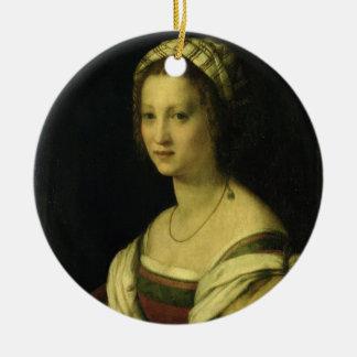 Lucrezia di Baccioのdel Fedeの芸術家の妻、c. セラミックオーナメント