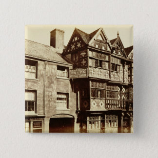 Ludlow (b/wの写真)の通り 5.1cm 正方形バッジ
