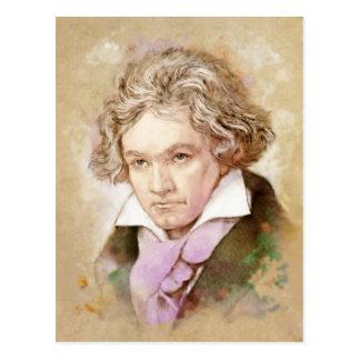 Ludwig van Beethoven im Aquarell Stil ポストカード