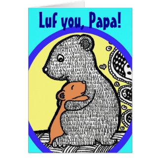 Lufのパパ-父の日カード カード