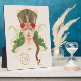 Lughnasadhの女神のポートレート フォトプラーク