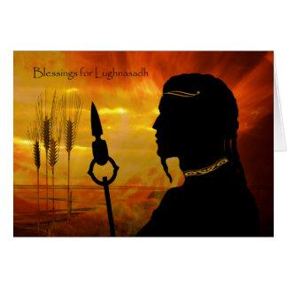 Lughnasadh、太陽神Lughおよびムギのための恵み グリーティングカード
