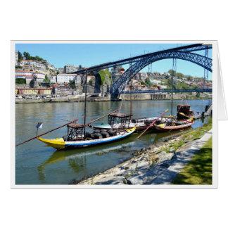 Luis川ドウロ川上の1つの橋 カード