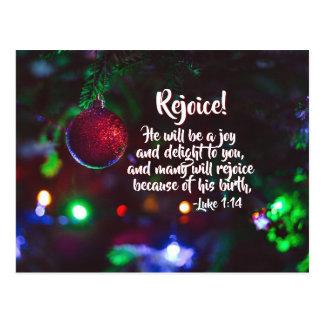 Luke 1:14 Many will Rejoice because of His birth, ポストカード
